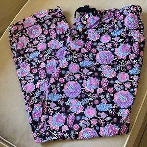 Vera Bradley Alpine Floral Pajama Bottoms XL